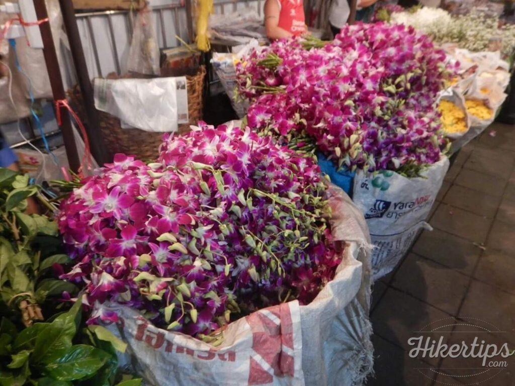 The flower market in Bangkok