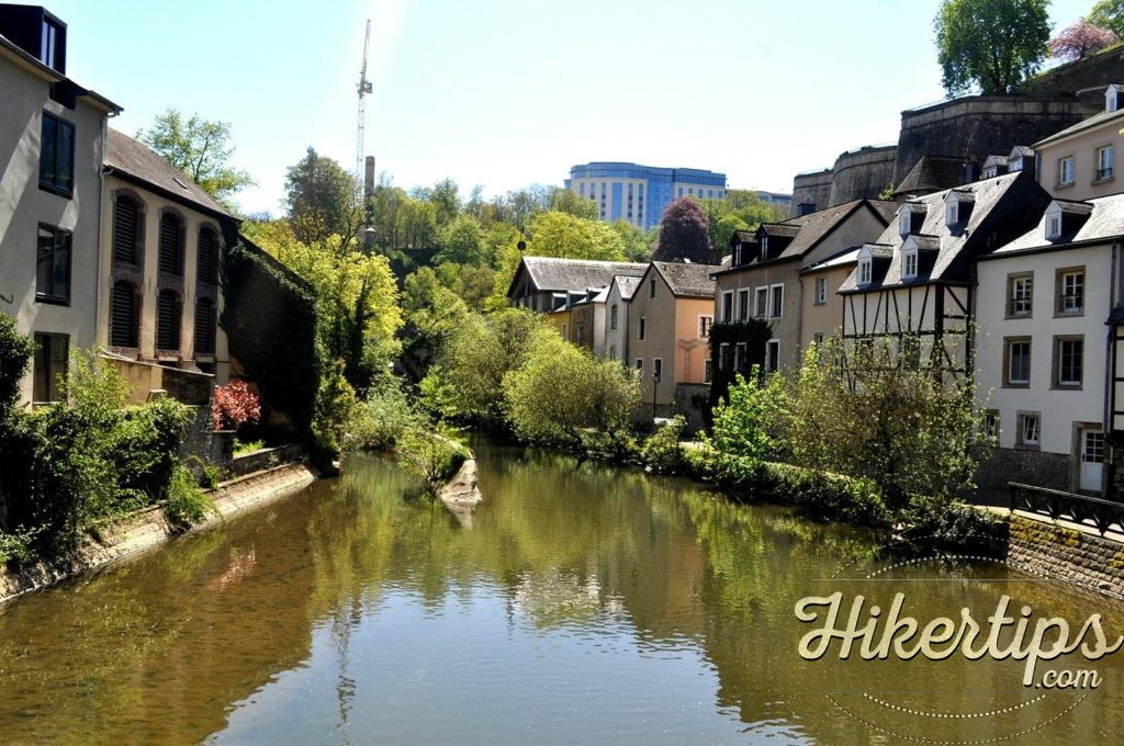 The River Alzette,Luxembourg