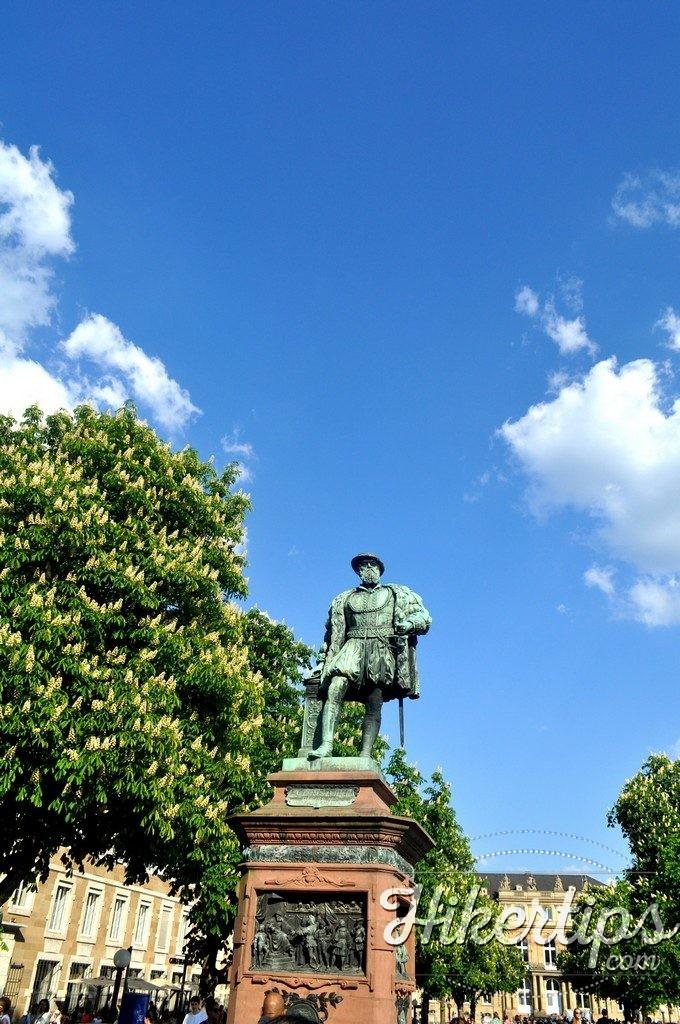 The statue of Herzog Christoph von Württemberg ,Stuttgart